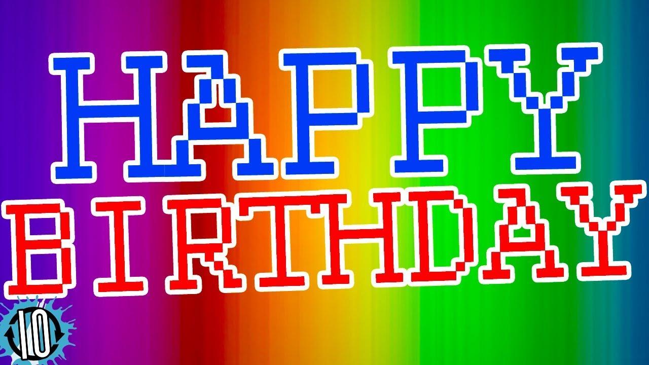Happy Birthday 80s Remix Song 10 Hours Of 1980s Instrumental Music Happybirthday Birthday Youtube
