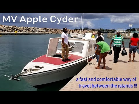 MV Apple Cyder, Nevis to St. Kitts (a fast and comfortable way of travel between the islands)