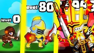 HOW STRONG IS THE MOST OVERPOWERED KNIGHT EVOLUTION? (9999+ LEVEL WEAPON) l Cash Knight New Game screenshot 2