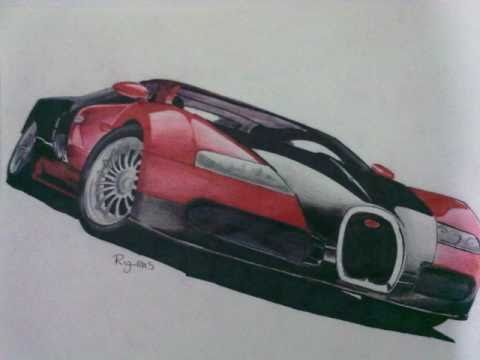 Drawing Bugatti Beyron (Dibujos de Autos) - YouTube