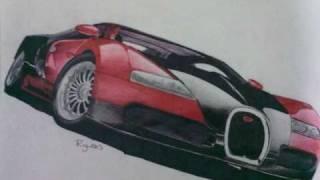 Drawing Bugatti Beyron (Dibujos de Autos)