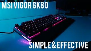 MSI VIGOR GK80 gaming keyboard with Cherry MX Reds