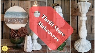 FALL THRIFT STORE MAKEOVERS | FARMHOUSE RUSTIC | DIY DECOR IDEAS | TRASH TO TREASURE | chalk paint