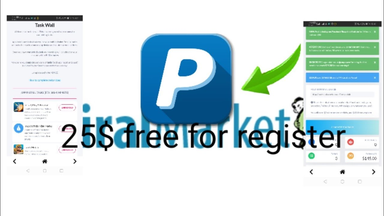 viral market make money by click and register