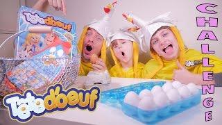 EGG CHALLENGE • Ca va éclabousser ! Des oeufs plein la tête avec Tête d'Oeuf - Studio Bubble Tea thumbnail