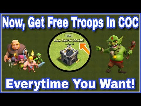 How To Get FREE TROOP'S in Clash Of Clans Everytime You Need? | 100% WORKING WAY | (HINDI)