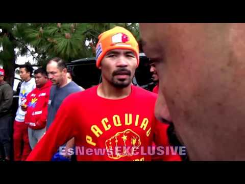 Manny Pacquiao Works Hard Like He Never Made A Dollar - esnews boxing