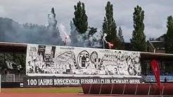 15.06.2019 Schwarz-Weiß Bregenz - FC Höchst 4:0, 100. Jahre Choreo, Pyro, Pyrotechnik
