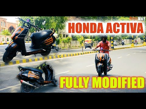 Honda Activa Modified Into Real Monster