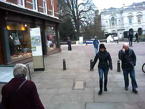 Ride around Cambridge City Centre - Test Footage Veho Muvi Micro Jan 2011