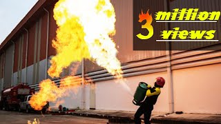 how to control a  burning gas cylinder. thumbnail