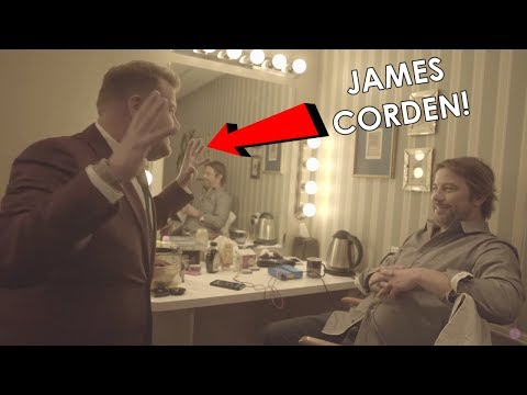 Backstage Chat at Late Late Show With James Corden