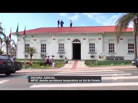 Em Cocal do Sul, Ministério Público demite servidores temporários contratados irregularmente.