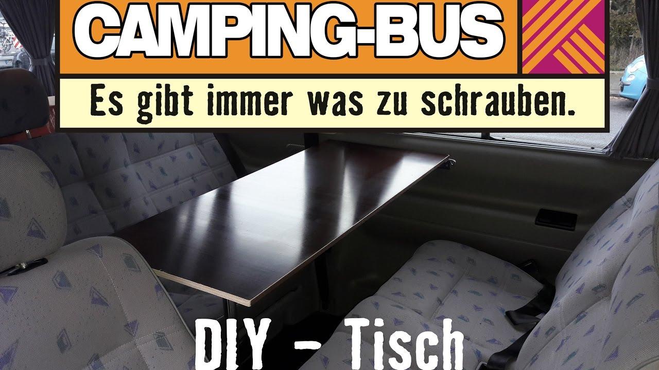 Campingbus Tisch.Projekt Vw T4 Campingbus Diy Klapptisch Für Unter 30