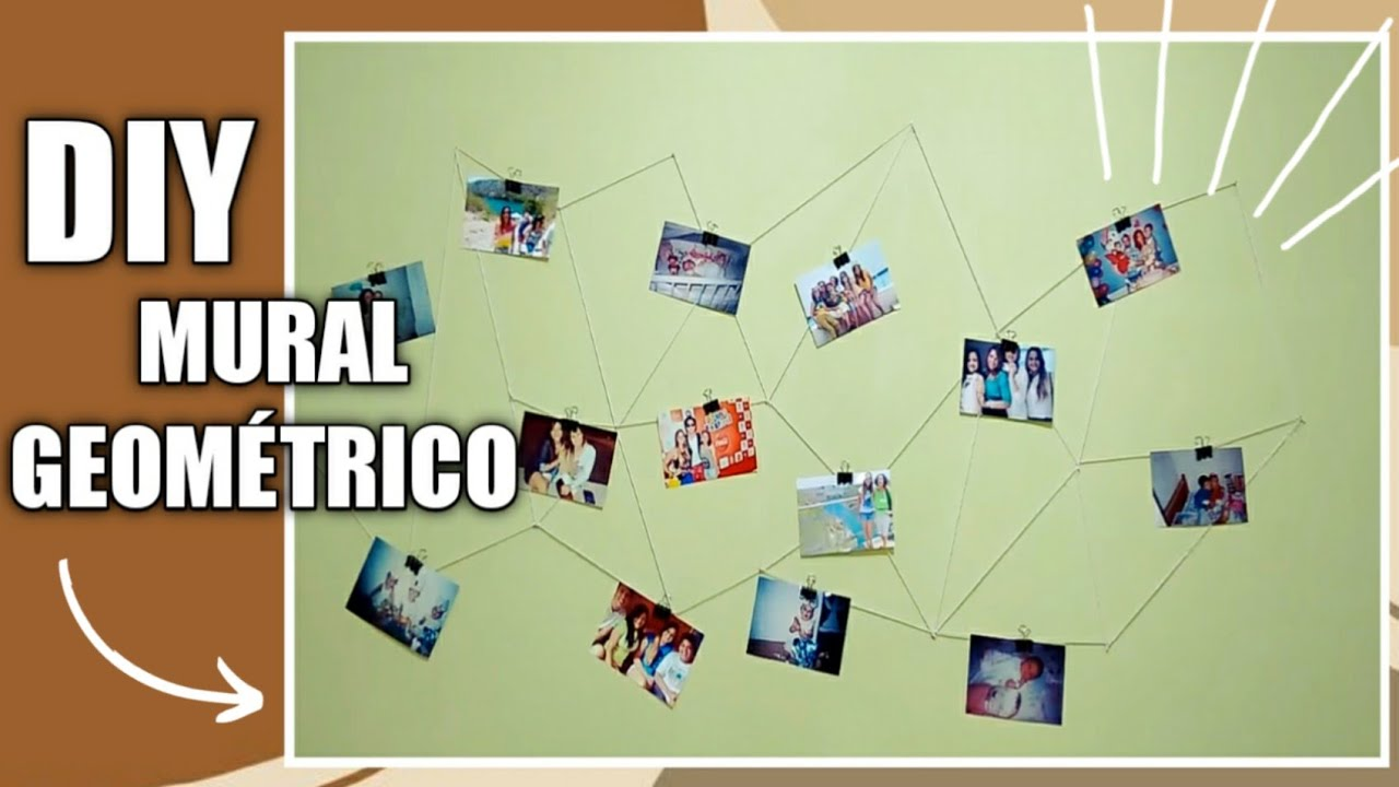 diy mural de fotos geom trico inspirado no tumblr youtube