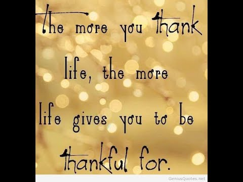 Being Thankful Quotes   YouTube