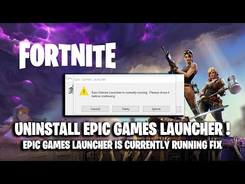 How to UNINSTALL EPIC GAMES LAUNCHER on PC ! [ Epic Games Launcher