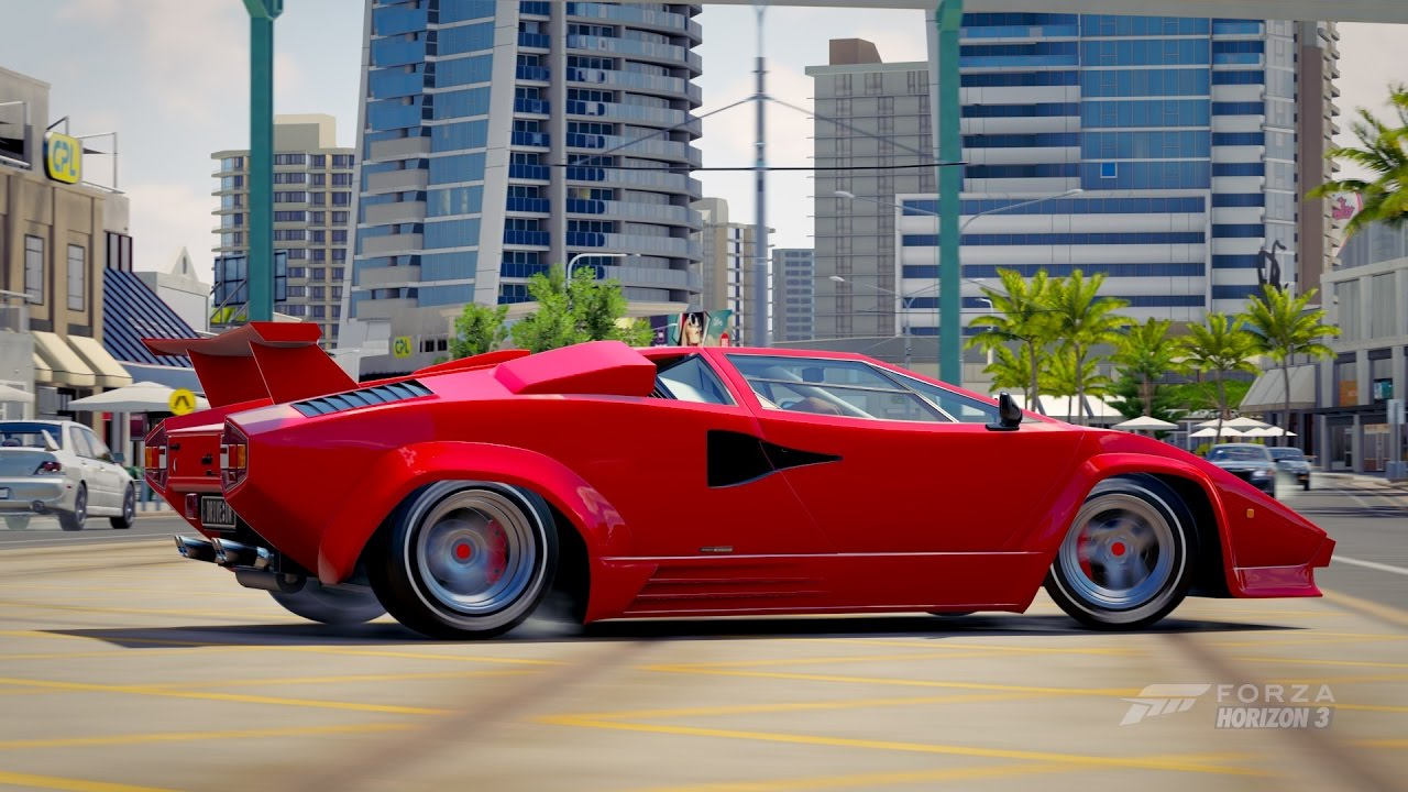 Lamborghini Countach Lp5000 Qv Horizon Edition 1998 Forza Horizon 3 Youtube