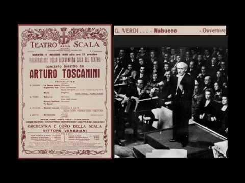 Toscanini conducts Verdi Nabucco overture (complete) Scala 1946