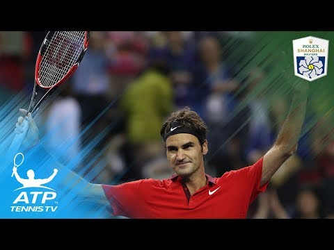 When Roger Federer avoided losing a match by millimetres! | Shanghai Rolex Masters 2014