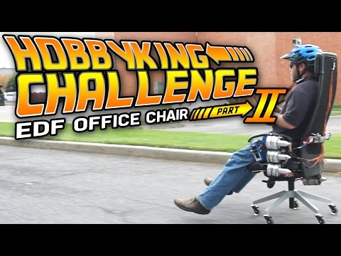 Jet Powered Office Chair Pt. 2 - HobbyKing Live - Challenge