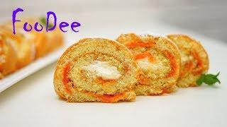 видео Бисквитный рулет с абрикосами