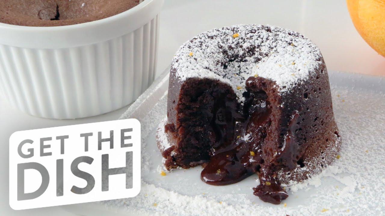 Chocolate molten lava cake recipe video