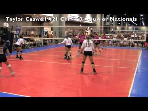 """Taylor Caswell #21 uncommitted  2013 5'11""""  OH/RH Excel Volleyball Club"""