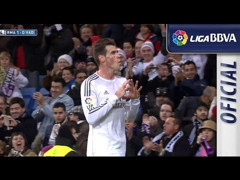 Gol de Bale (1-0) en el Real Madrid - Real Valladolid - HD