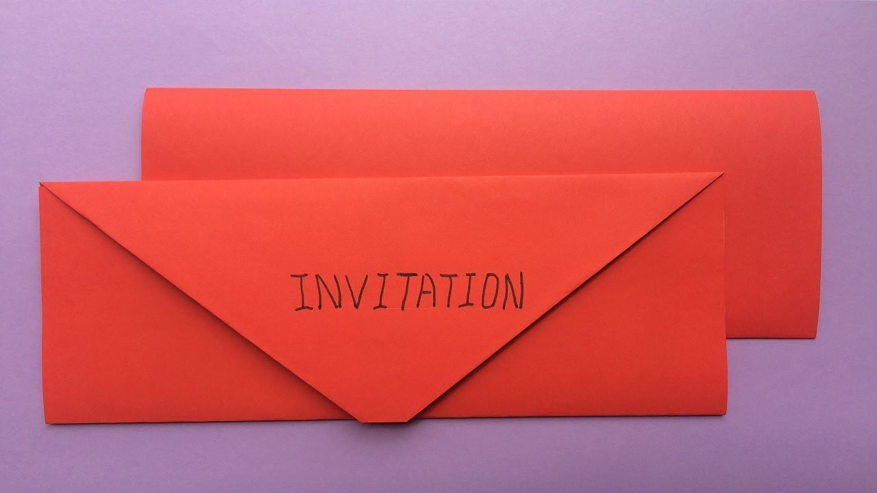 How To Make A Paper Birthday Party Invitation Card Easy Origami Birthday Party Invitation Card