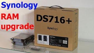 Synology DS716+ распаковка и замена модуля памяти на 8 Гб