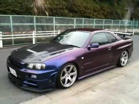 Nobu Driving The Purple Monster R34 Gt R 900 Hp Edward