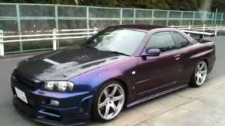 Nobu Driving the Purple Monster R34  GT-R 900 HP - Edward Lee