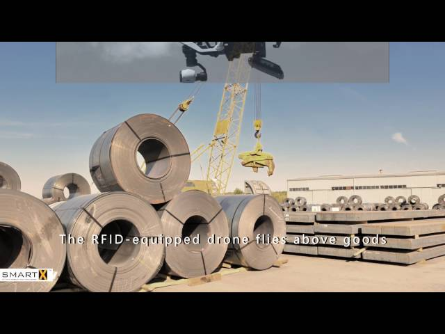 Steel Yard Inventory using RFID Mounted Drone Ground Aerial & Mobile Smart Data Solutions