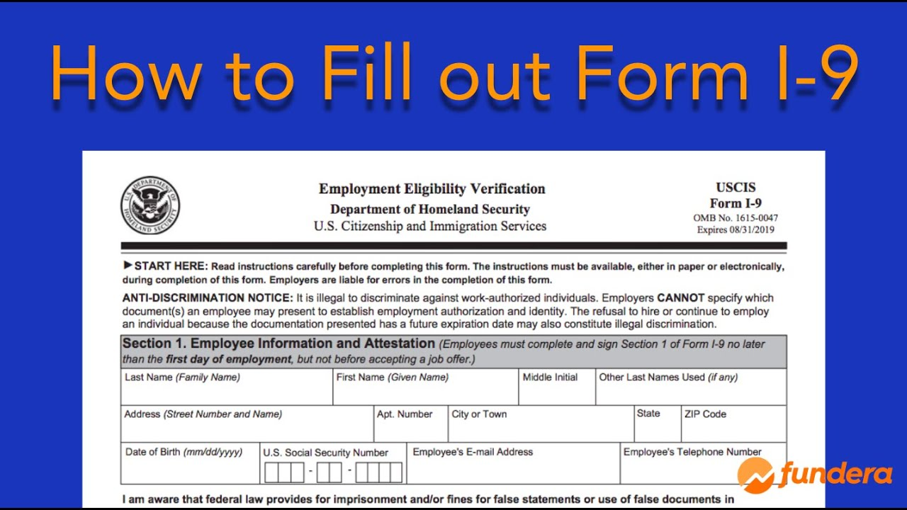 form i-9 with instructions  How to Fill out Form I-8: Easy Step-by-Step Instructions