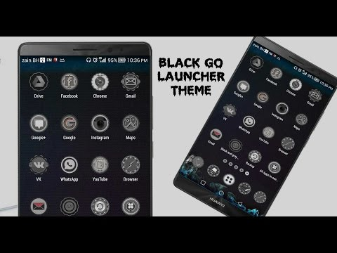 Black Go Launcher Theme Trailer For Google Play