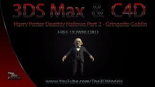 Cinema 4D/ 3DS Max | Harry Potter Goblin Model Download