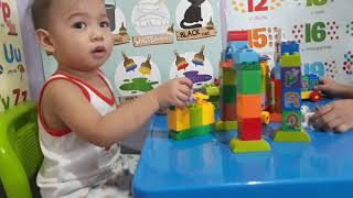 Toy  Hunting, kids unboxing new  colorful toy train. Jago Alphabet Learning Train