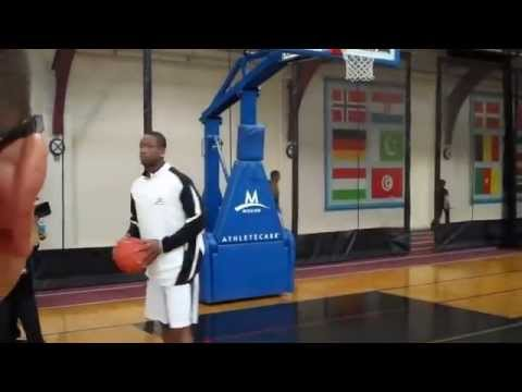 Dwyane Wade shows basketball moves