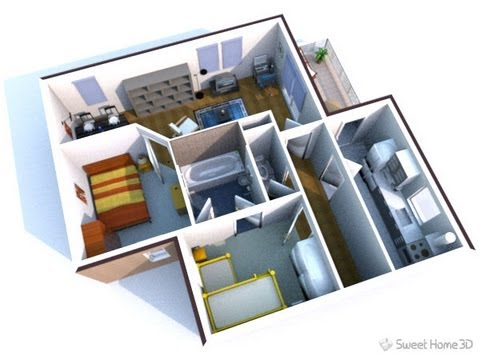 Sweet home 3d virtualiza o de projetos para casas hd 720p - Creare piantina casa ...