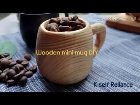 Wood carving wooden mug DIY 우드카빙 미니 머그잔