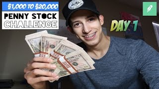 Day 1: $1,000 to $20,000 Challenge | Daily Recap Trading Penny Stocks