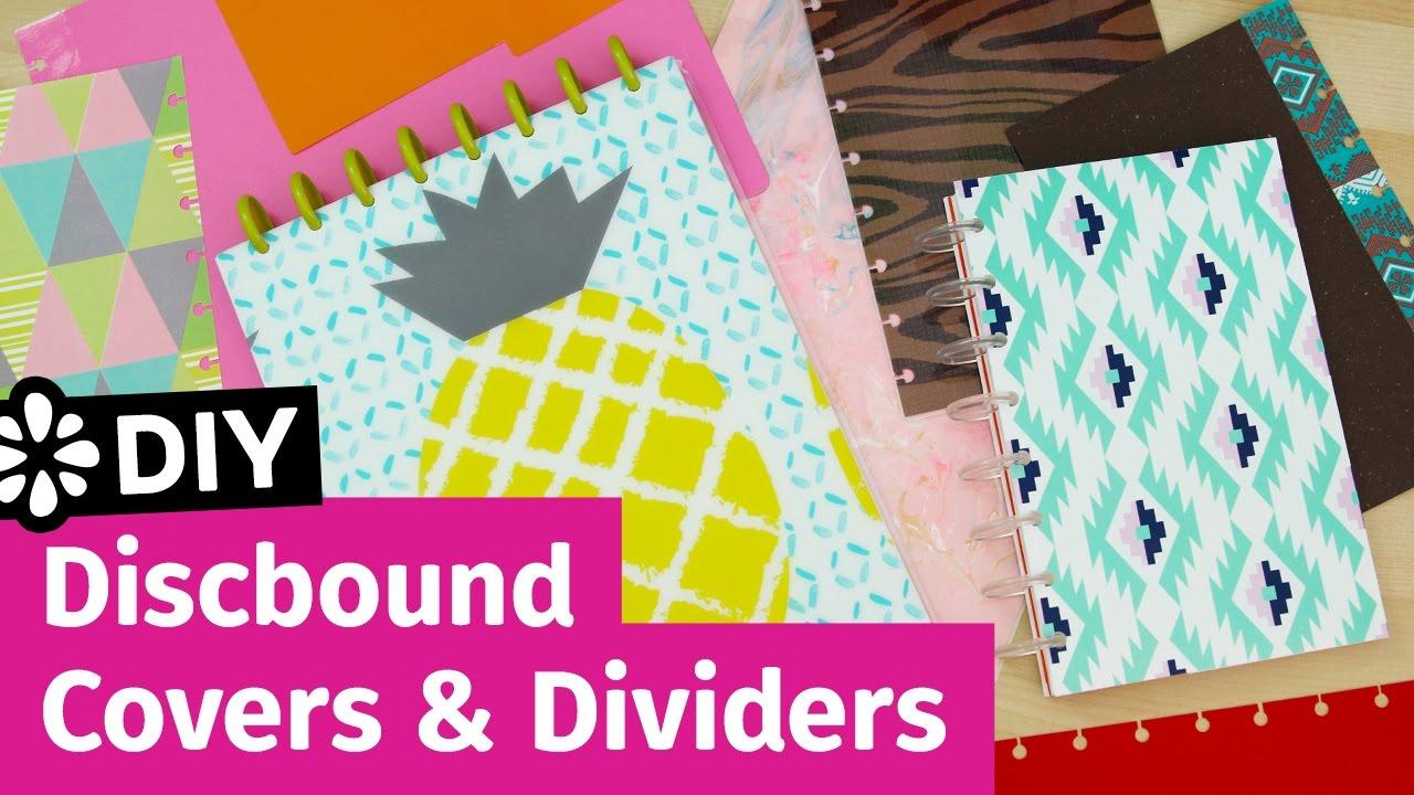 diy discbound notebook covers amp dividers sea lemon youtube