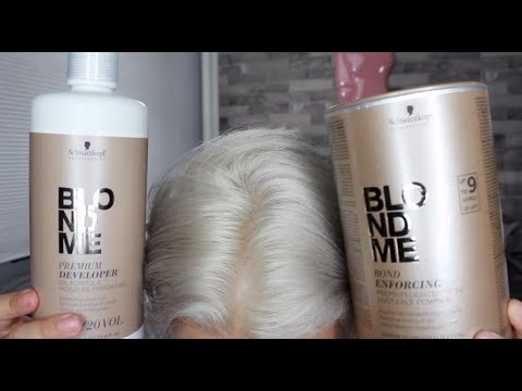 Schwarzkopf Blondme Bleach Review Demo Achieve White Hair