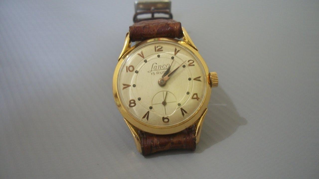 73947de37a2 Relógio Lanco antigo de coleção Corda manual - YouTube