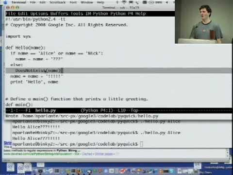 Google Python Class - YouTube