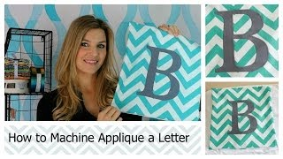 Wie die Maschine Applique einen Brief