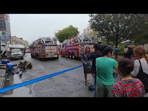 Major Crash MTA Q20 Bus Accident in Queens Flushing NY Deadly buses collision during NYC rush hour