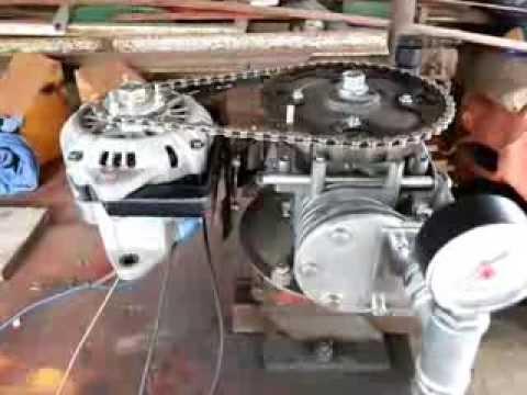 Schema Collegamento Alternatore Auto : Motore ad aria compressa con alternatore auto homemade air