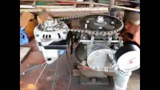 Motore ad Aria Compressa con Alternatore Auto / Homemade Air Engine with DC Generator